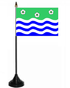 Cumbria Desk / Table Flag with plastic stand and base.